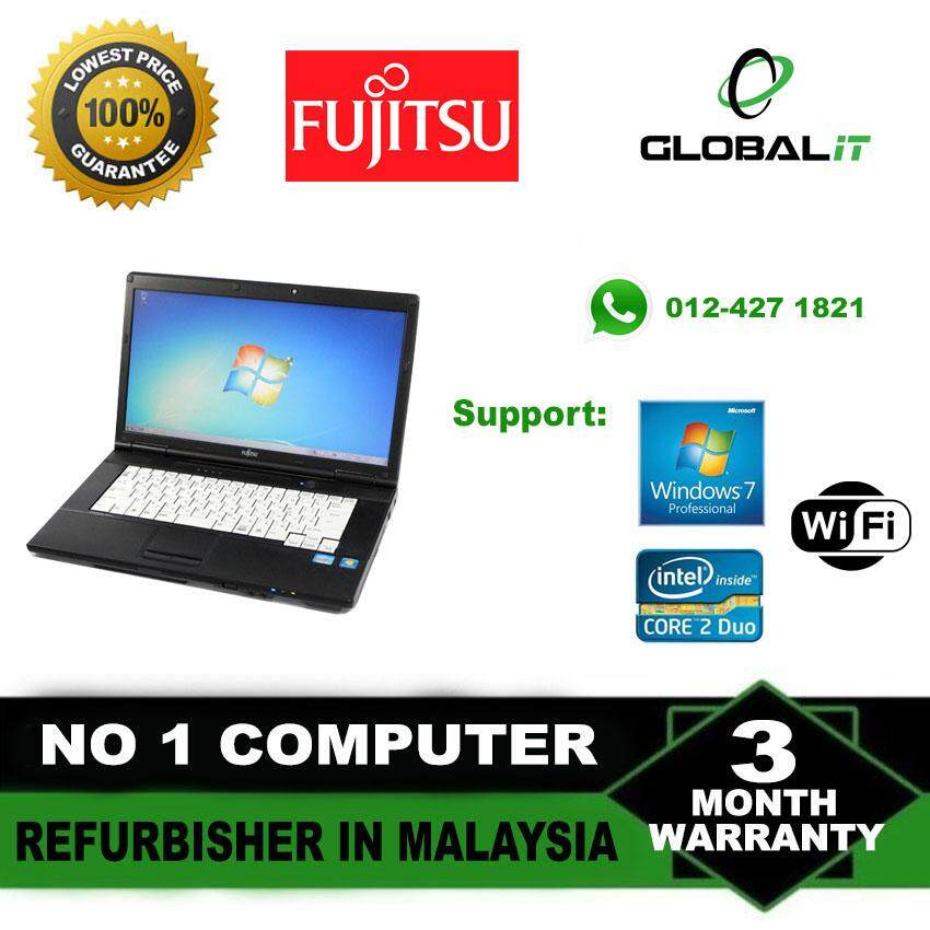 (Refurbished Notebook) Fujitsu Lifebook / 15 inch LCD Screen / Intel Core 2 Duo / 2GB Ram / 80GB Hard Disk / Windows 7 Malaysia