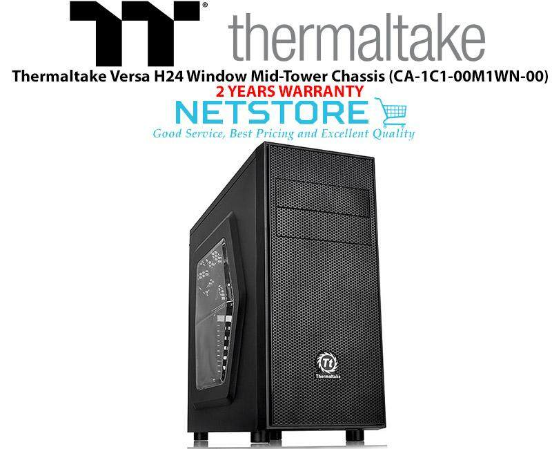 Thermaltake Versa H24 Window SPCC ATX Mid Tower Computer Chassis CA-1C1-00M1WN-00 Malaysia