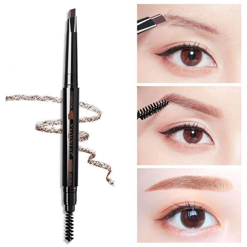 Lucky Double Head Eyebrow Pencil Waterproof Sweat Resistant Not Easy To Decolorization Durable Natural Makeup Brush
