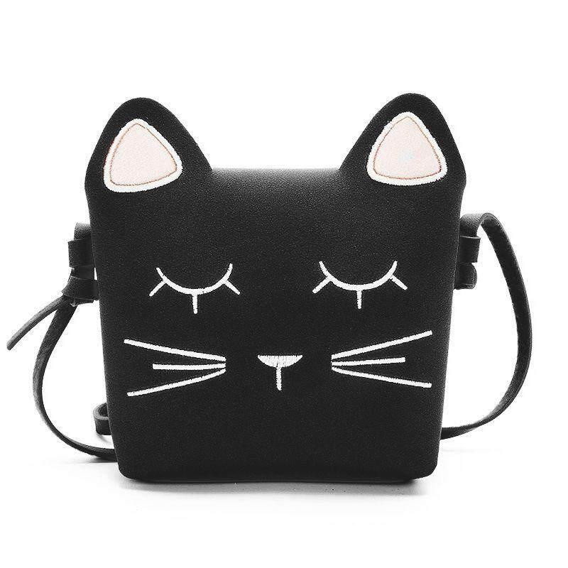 Cute Cat S Purse Handbag Children Kid Cross Body Shoulder Bag Christmas Gift Black