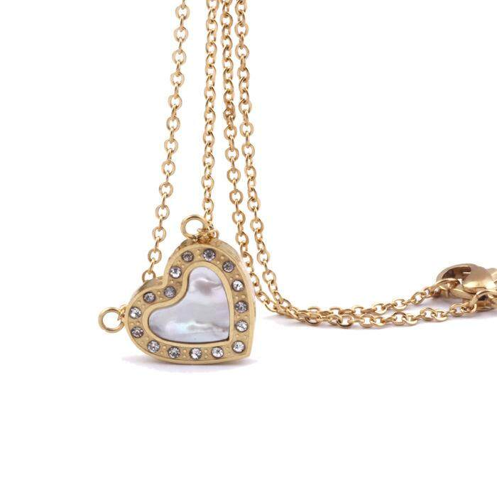 MYR 25. LINGHO BELT Fashion Jewelry High quality Stainless Steel Women Necklace Luxury 18K gold Rhinestone ...