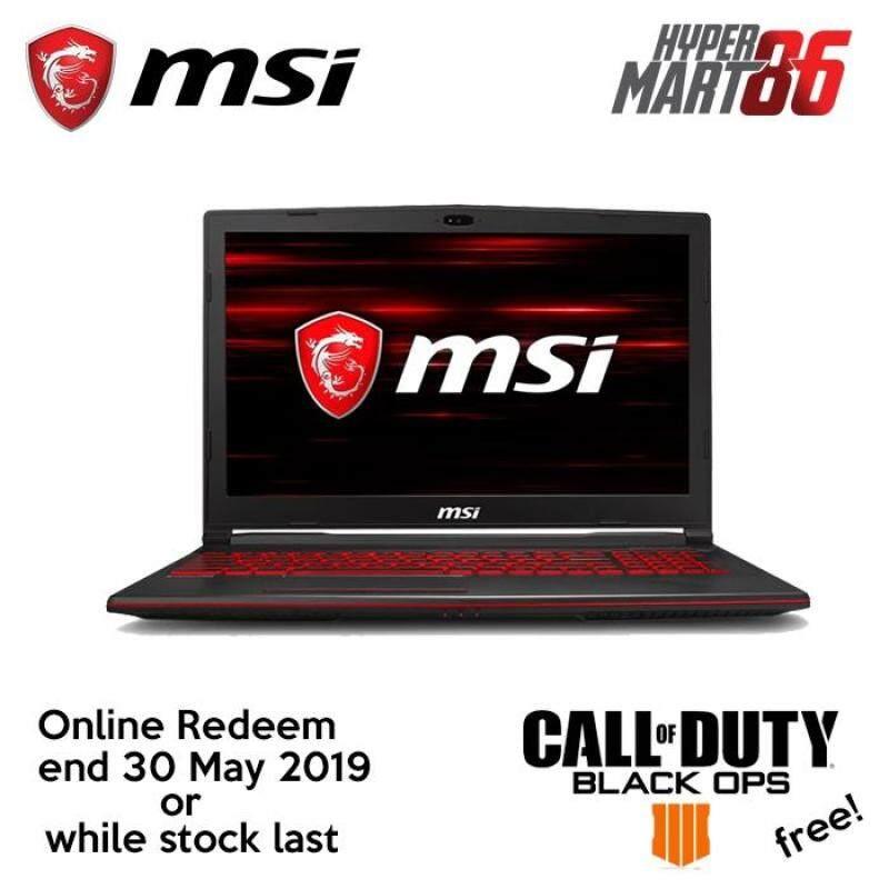 [LIMITED OFFER]MSI GL63 8RD-665MY Gaming Notebook (15.6inch/Intel I7/8GB/1TB+128GB SSD/GTX1050TI 4GB) Malaysia