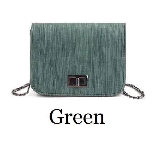 Al Sahhia Ready Stock Korean Fashion Simple Small Square PU Box Lady Sling Bag Tote Beg