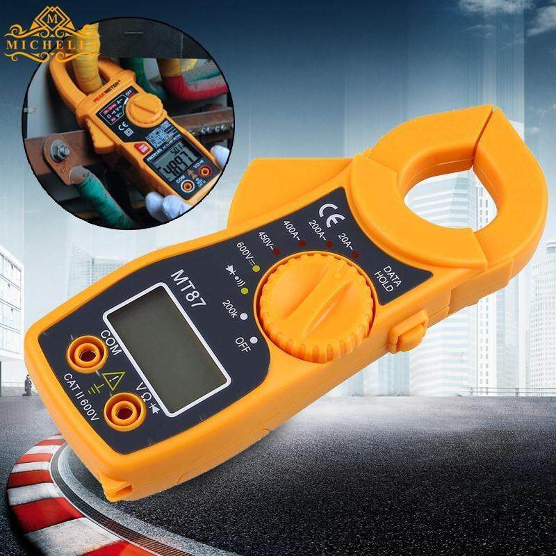 Digital Multimeter LCD Clamp AC DC Voltage Volt Amp Electronic Tester Meters