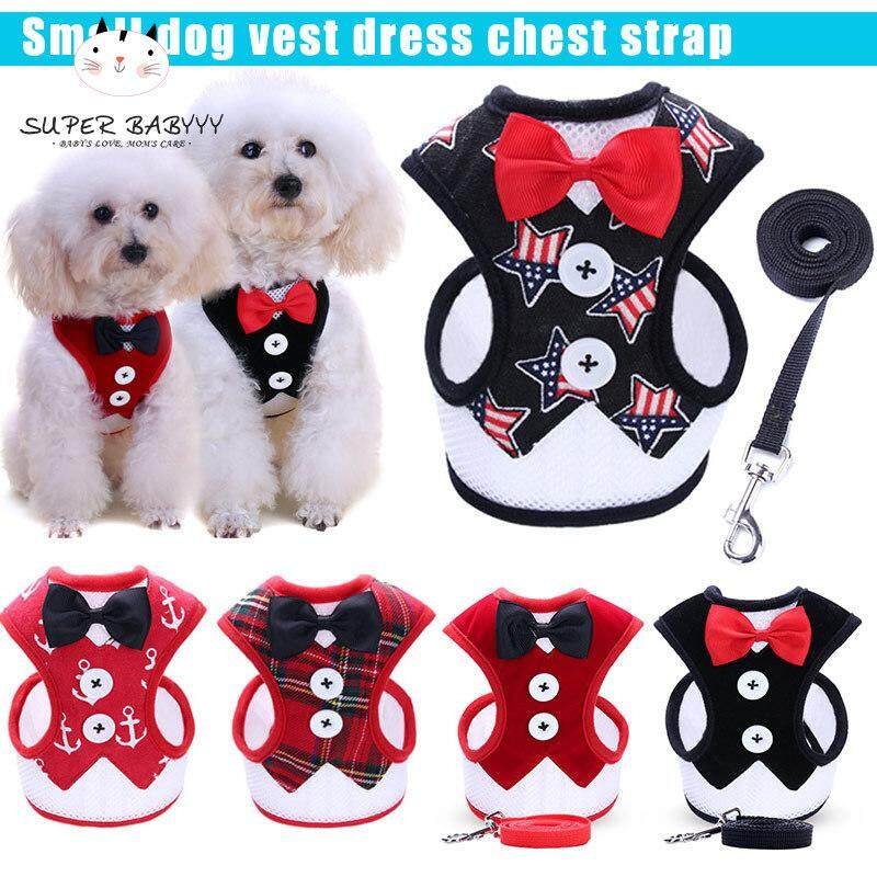 4b0ef2e67bfa SBY Pet Vest Harness Leash Puppy Walking Halter Harnesses Dog Bowknot  Breast-Band for Dogs