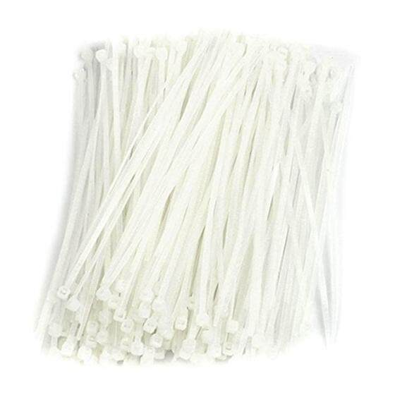 500Pc Electric Cable Loop Closure Lightning Nylon closure 4mm x 150mm