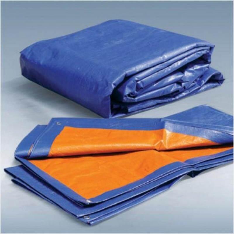 15 X 15 High Quality Multipurpose Blue Orange Canvas Tarpaulin Canvas