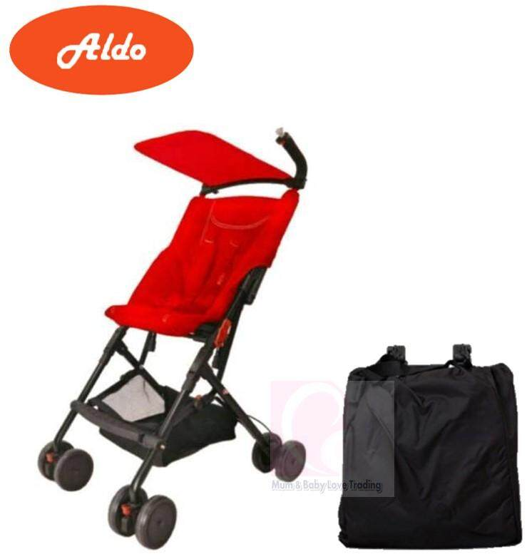 a91b32cb04a Aldo Klavier Light Weight Compact Stroller with Travel Bag(Red)