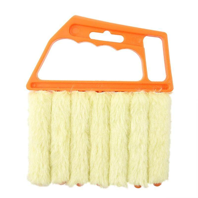 Microfibre Venetian Blind Brush Window Air Conditioner Duster Dirt Clean Cleaner (Orange)