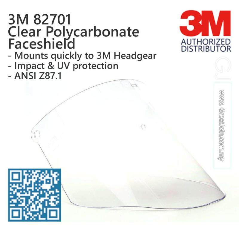 3M 82701 Clear Polycarbonate Faceshield / Used with 3M Headgear or Faceshield Holder [Faceshield only, Not Including Headgear / Faceshield Holder] [1 piece]