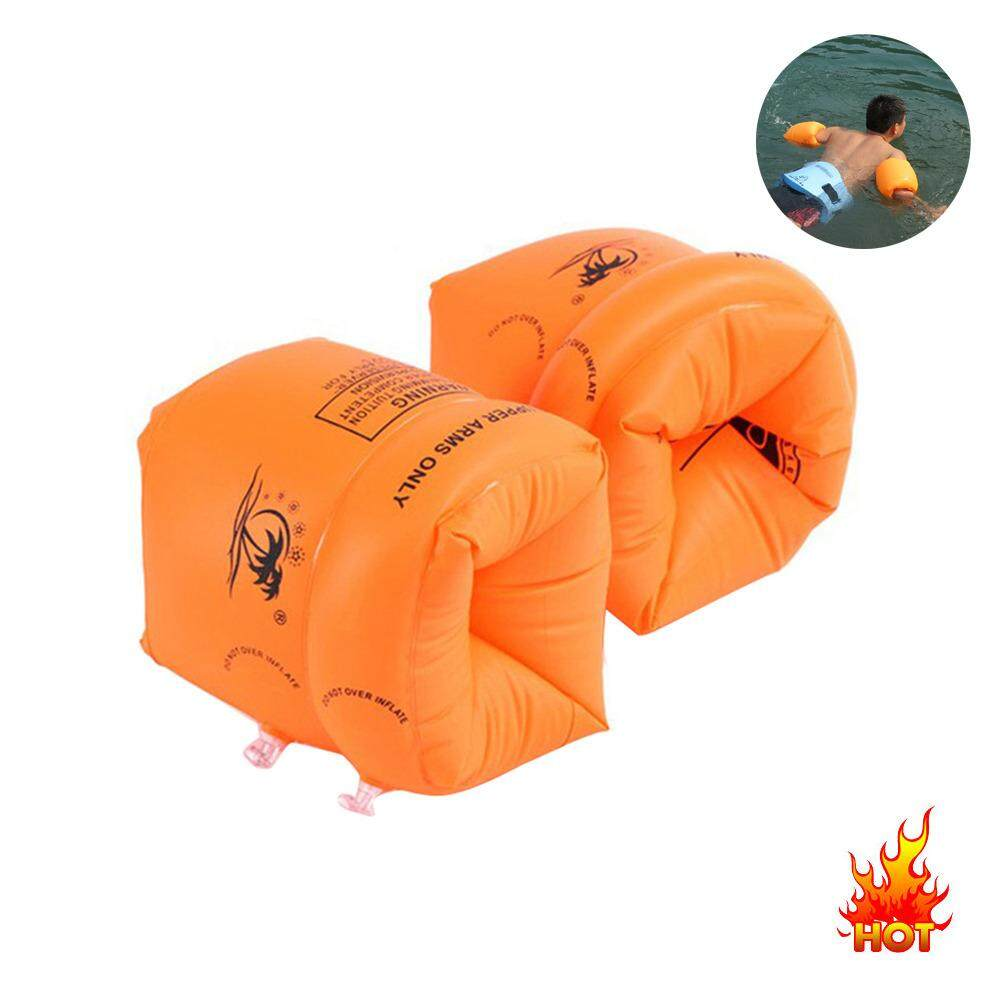 Kids Begin To Swim Arm Bands Safety Inflatable Roll Up Floaties Water Wings - Orange By Treeone.