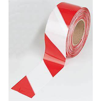 BARRICADE TAPE RED WHITE (72MM X 40M)
