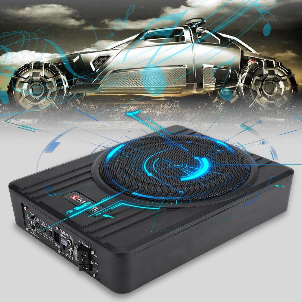 10in 600w Ultra-Thin Under-Seat Car Active Subwoofer Audio Bass Enclosure Speaker Amplifier By Qilu.