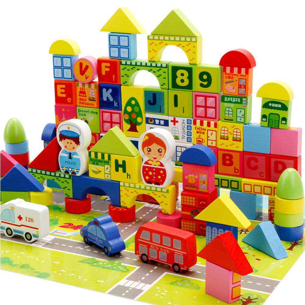 Toys Games Buy At Best Price In Malaysia Www People Blocks 31 Piece Set Classic Colors 160pcs 100pc Block 60 Map Puzzle City Wooden