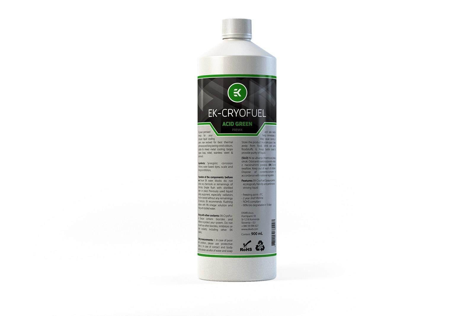 # EKWB EK-CryoFuel Premix 900 mL # Acid Green
