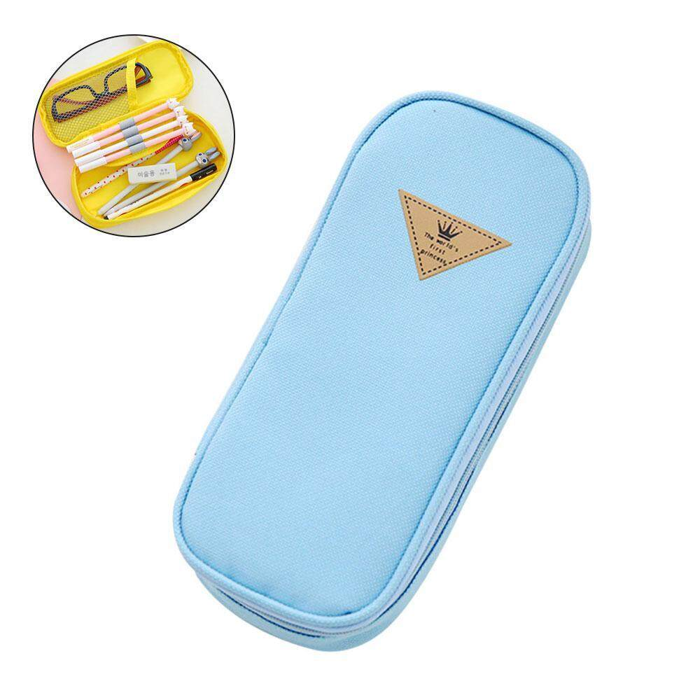 aedb93f4e831 Treeone Contracted Large Capacity Multifunction Pencil Case 19.5*9*4.5CM
