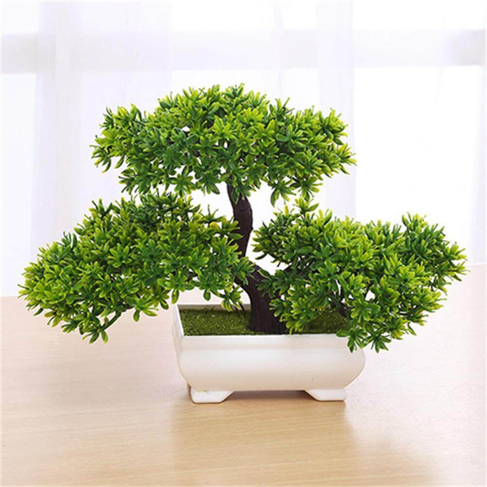 Home Artificial Flowers Plants Buy Love Potted Decorative Plant Tree Bonsai Decoration Not Faded No Watering Office Gift