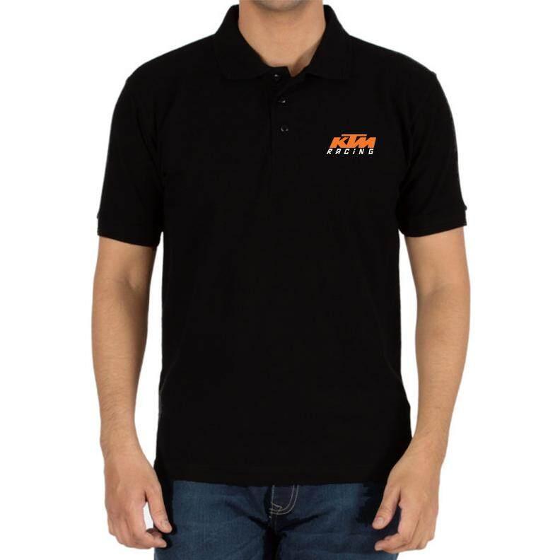 fbc5953c956 Genuine KTM Duke Motocross SBK Racing Logo Motorcycle Black Men Polo Tee T- Shirt