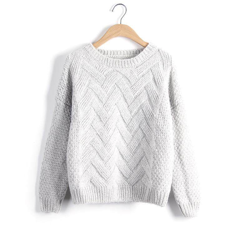 db80a6b93ac18 LUX ANGNER 2018 Autumn Winter Women Sweaters Pullovers O Neck Plaid ...
