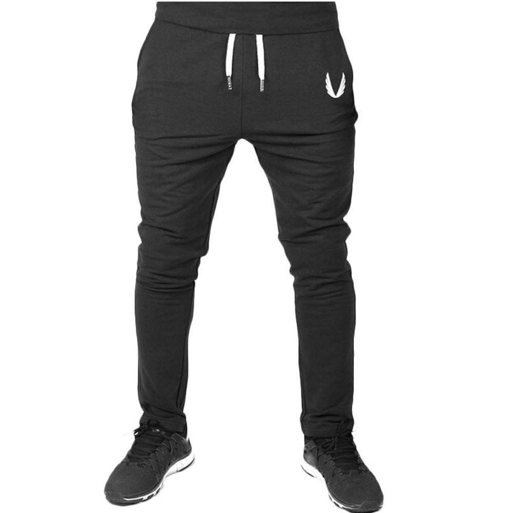 8c8d69d508bf New Men Sportswear Casual Elastic Fitness Workout Running Gym Pants Trousers