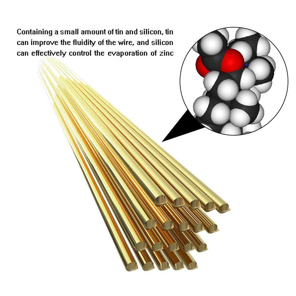 20pcs Brass Welding Wire Electrode 1.6mm*250mm Soldering Rod No Need Solder Powder