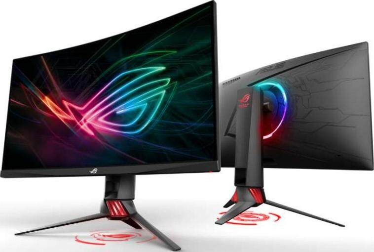 ASUS ROG Strix XG35VQ Curved Gaming Monitor, 35 UWQHD (3440x1440), 100Hz, Adaptive-Sync (FreeSync™), Extreme Low Motion Blur, DP, HDMI, USB3.0, Aura Sync Lighting Effect Malaysia