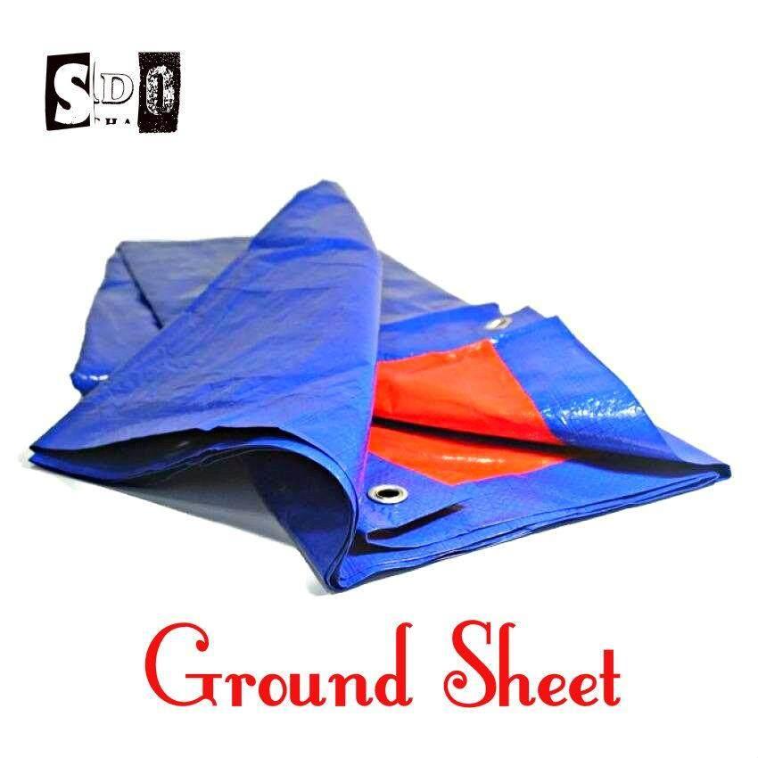 12x15 Groundsheet Shelter Canopy (blue/orange) By Sri Damansara Outdoor.
