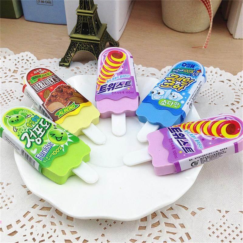 1 Pcs Cute Kawaii Erasers Ice Cream 3d Pencil Eraser For Kids School Supplies By Best Land.