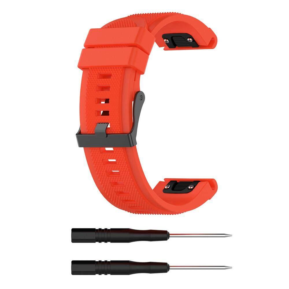 World Deal for Garmin Fenix 5X Plus Band Easy Fit 26mm Width Soft Silicone Watch Strap Malaysia