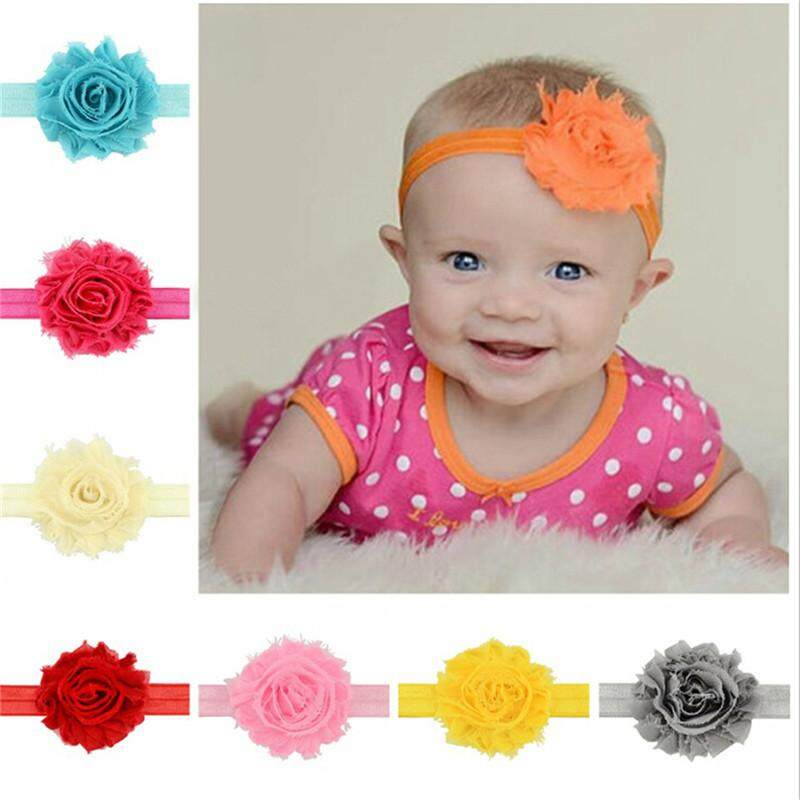 Baby & Toddler Clothing Baby Accessories Cute Girl Baby Toddler Infant Flower Headband Hair Bow Band Accessories Ivory Durable Service