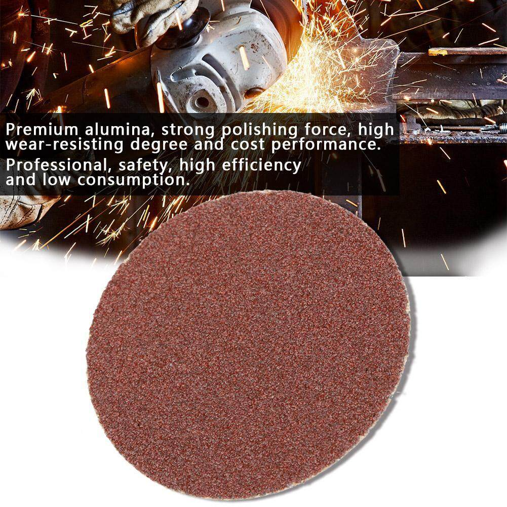 【promotions】25pcs 3-Inch Durable Round Shape Sanding Discs 120 Grit Roll Lock Surface Sand Papers By Lfinger.