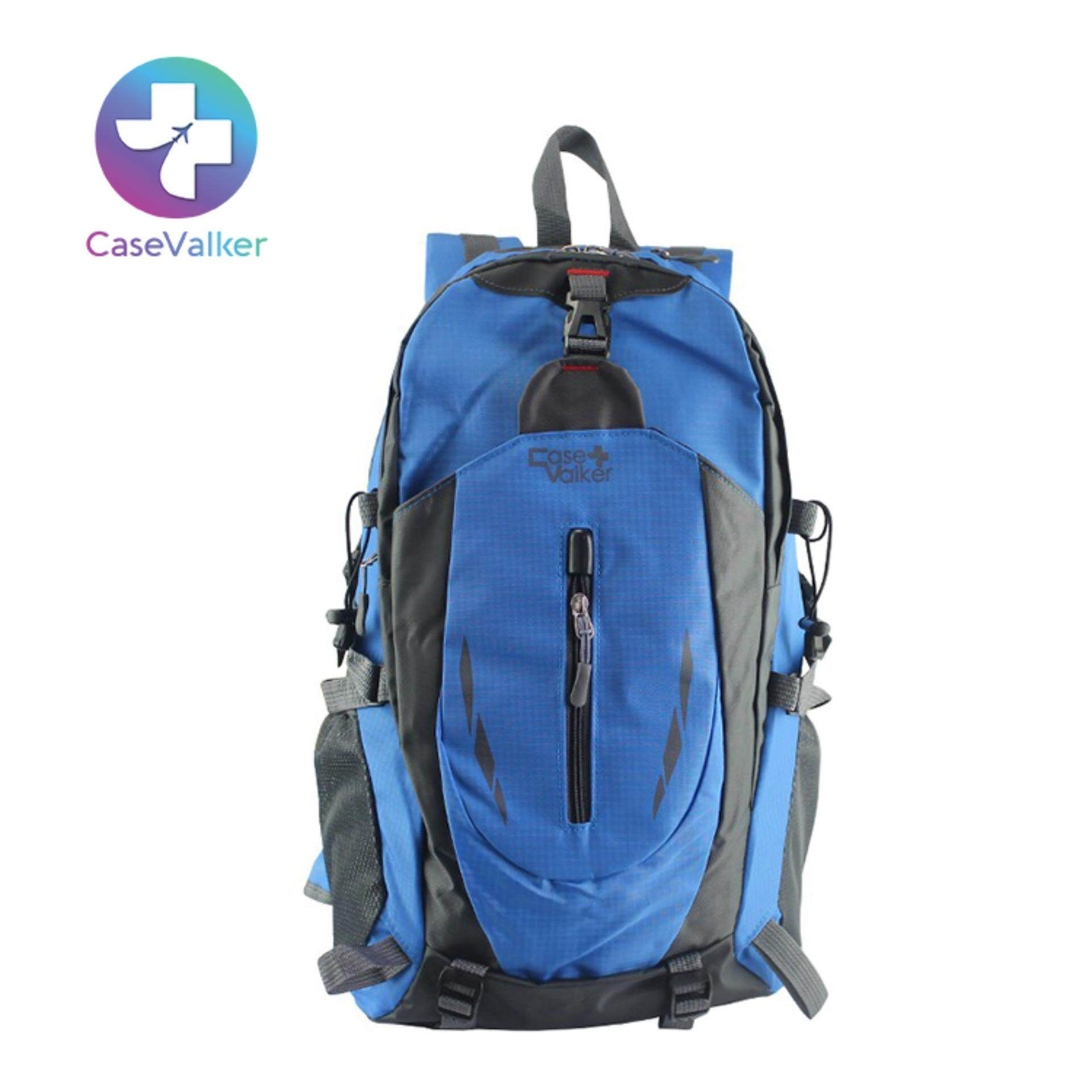 Case Valker 40L Outdoor Hiking Travel Nylon Backpack (Blue) 1df873f5e33f9