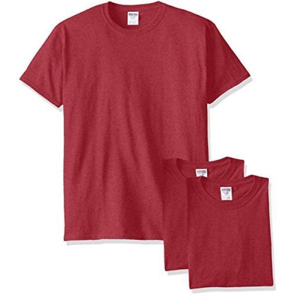 Jerzees Mens Adult Short Sleeve Tee 3 Pack X Sizes, Vintage Heather Red, By Barun.