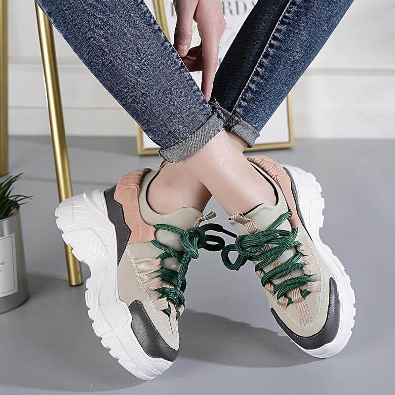 ... Merah muda telanjang model. Source · New Sneakers Female Korean Harbin Muffins Thick Inside Thick Bottom Daddy's Shoes Sneaker Untuk Wanita