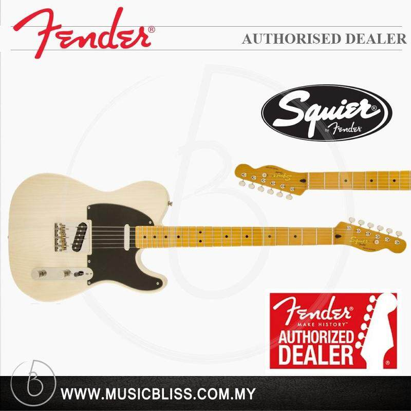 Fender Squier Classic Vibe Telecaster 50s 6-String Electric Guitar, Maple Fingerboard (Vintage Blonde) Malaysia