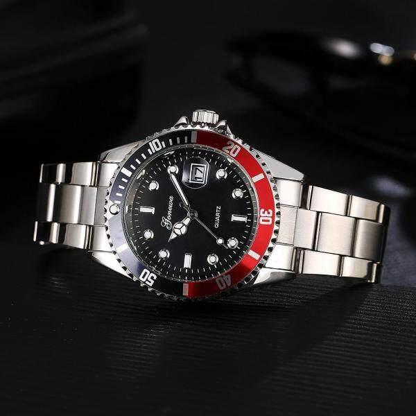 GONEWA Men Fashion Military Stainless Steel Date Sport Quartz Analog Wrist Watch Malaysia