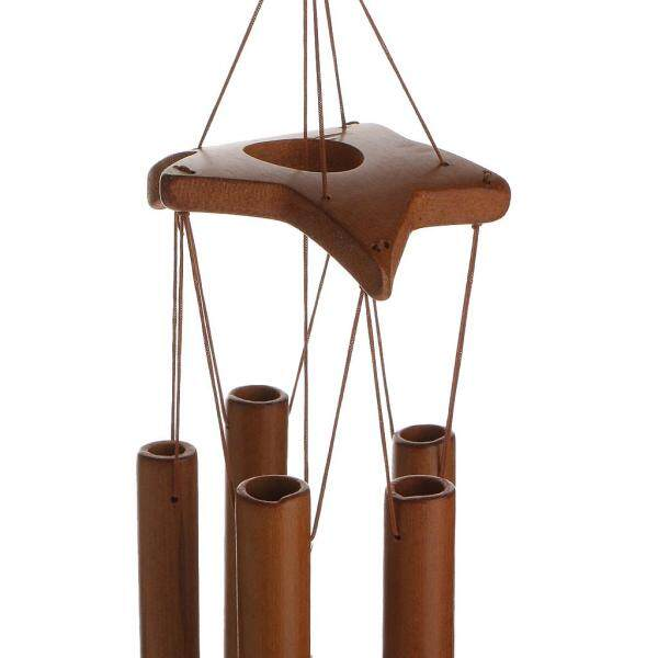 Dolity Star Decor Windchimes Wind Chime Bamboo 8 Tubes Hanging Ornament Garden Home
