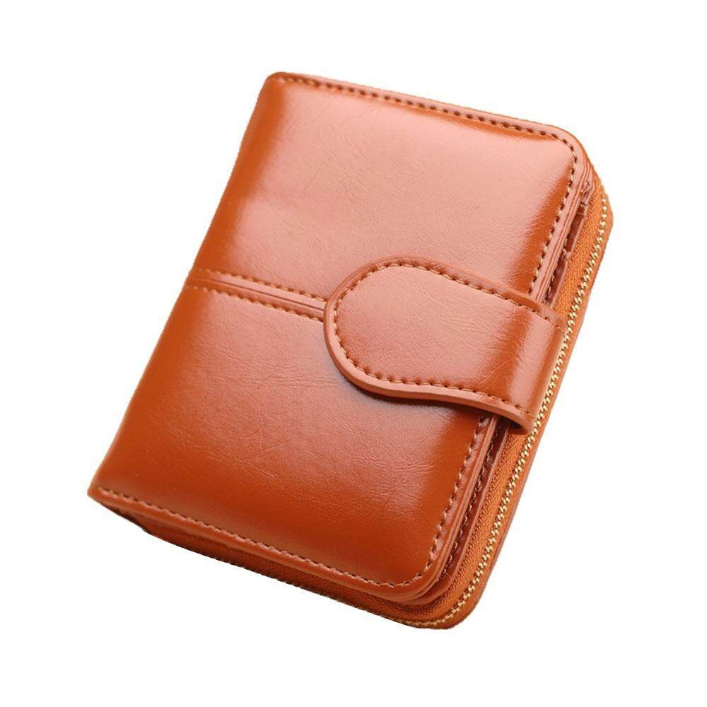 Women S Short Wallet Pu Leather Zip Purses 11 5 9 3 5cm
