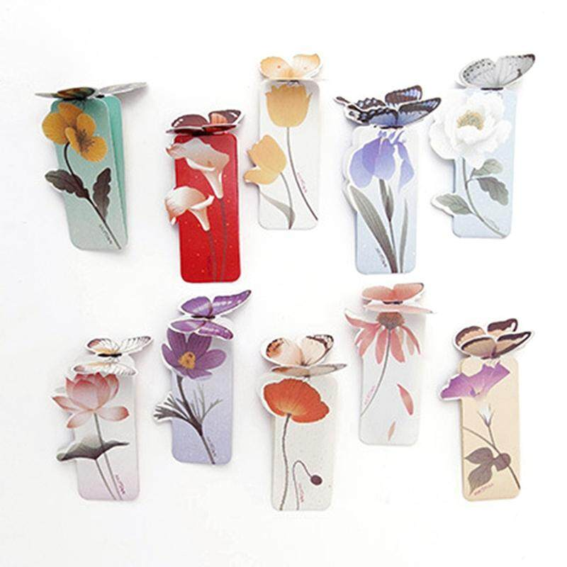 10 Pcs Linfang Floral Printing Cute Butterfly Shape Exquisite Mini Bookmark By Linfang Store.