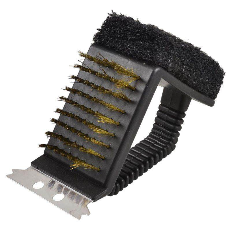 Rectangular Brush Metal Scraper Bristle Base Pot Pan Scrubber