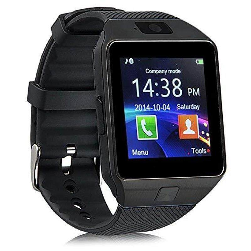 DZ09 Bluetooth Smart Watch -  Upgraded Touchscreen Sport Smart Wrist Watch Fitness Tracker Support SIM TF Card With Camera Pedometer for Android Samsung LG (BLACK) Malaysia