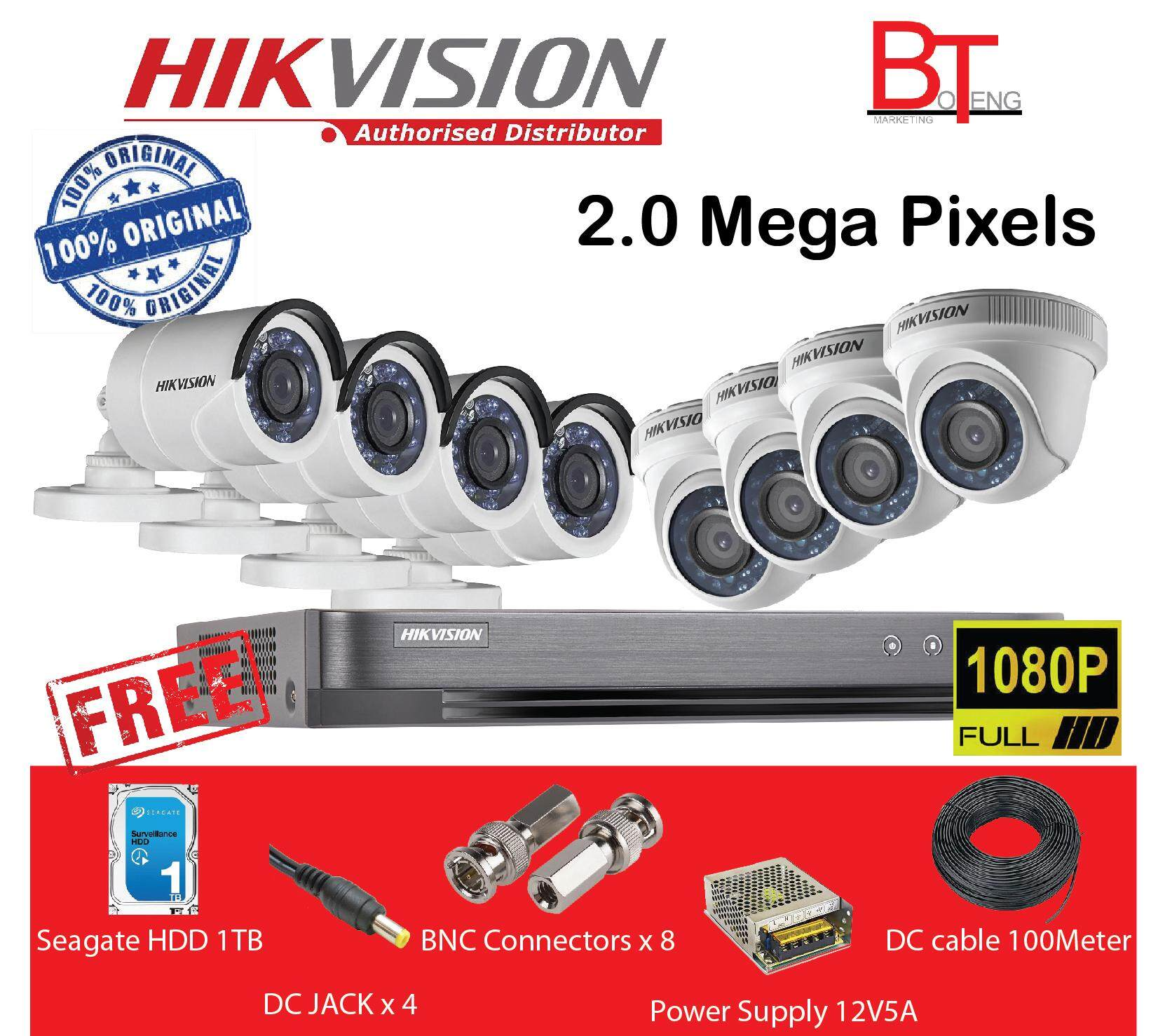 Cctv Security Cameras Buy At Best Price In Wiring Car Audio Promotionshop For Promotional Hikvision Tvi Hd 1080p 8ch Packages