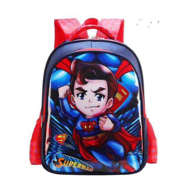 e212fa347101 EcoSport School Bag Preschool Primary Junior 3D Cartoon Design Waterproof  Solid Wheels Pocket Kids Children Junior