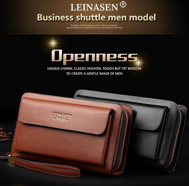 db9a77a6a41d Mens wallet money clip phone Admission package High capacity Multi-bit  Casual Clutch clutch men purse for coins luxury wallet Clutch bag Long  Purse ...