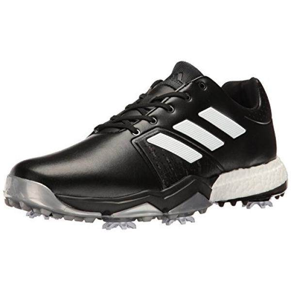 finest selection bbd15 e68e2 adidas Mens Adipower Boost 3 Golf Shoe, BlackWhiteSilver Metallic, 12