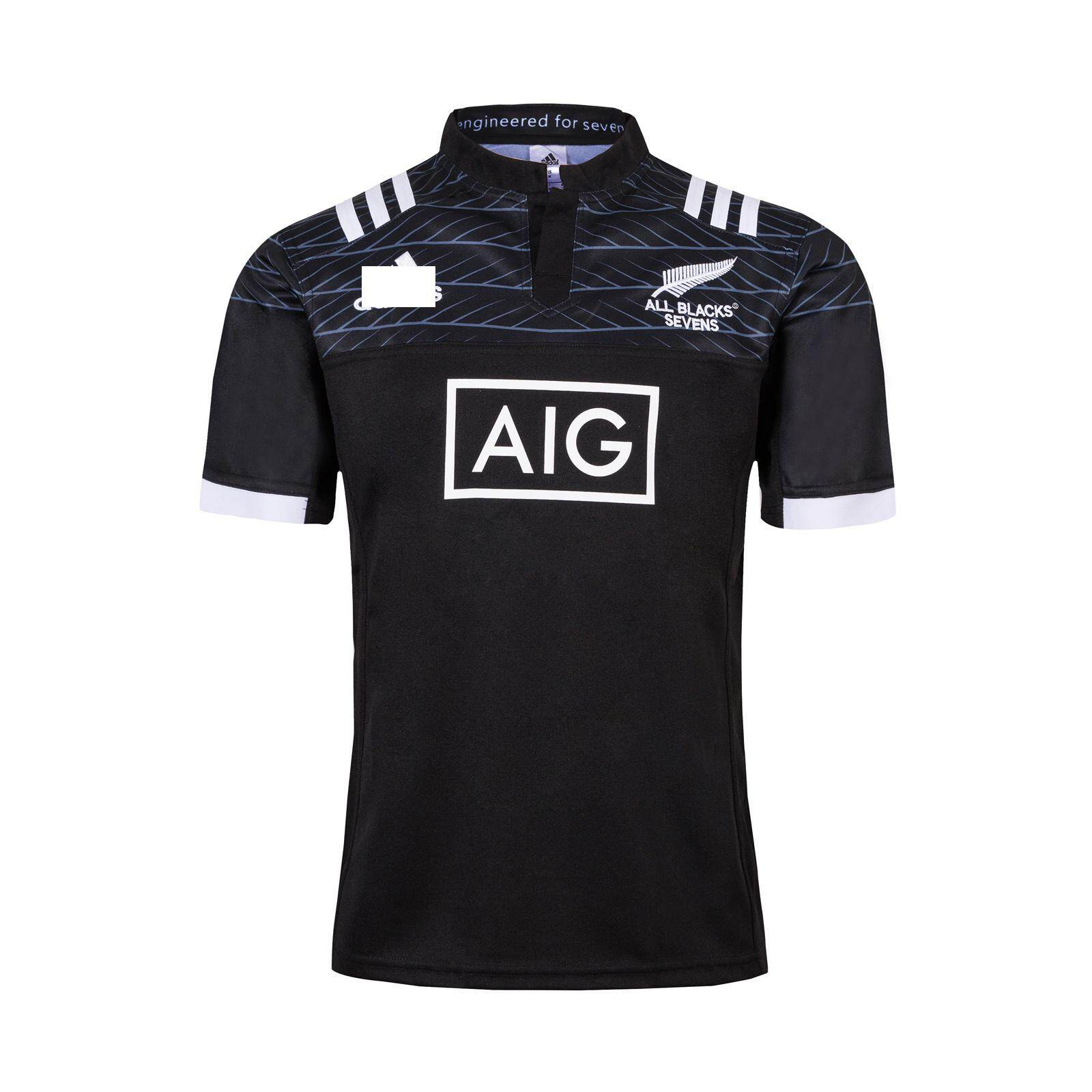 d5d9bcbf5f1 New Zealand 2018/19 All Blacks 7' Home Rugby Shirt All Blacks Rugby Jersey