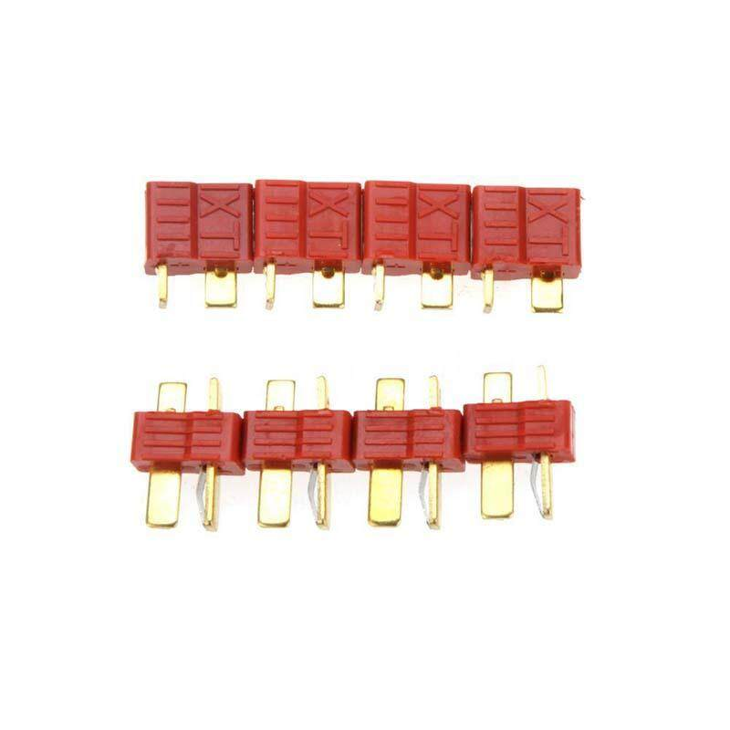 10 Pairs Non-slip TPlug Male and Female Connectors for RC Lipo Battery Red