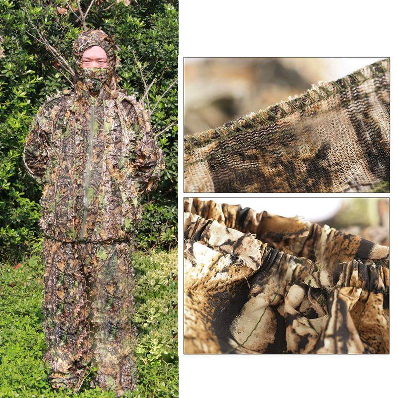3d Leaf Adults Ghillie Suit Woodland Camo/camouflage Hunting Deer Stalking In By Sunshineyou.