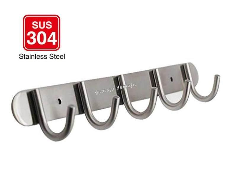 Heavy Duty Stainless Steel Hook Steel Hanger Steel Coat Hook 5 Hook / 6 Hook SUS304 Solid Steel Hook