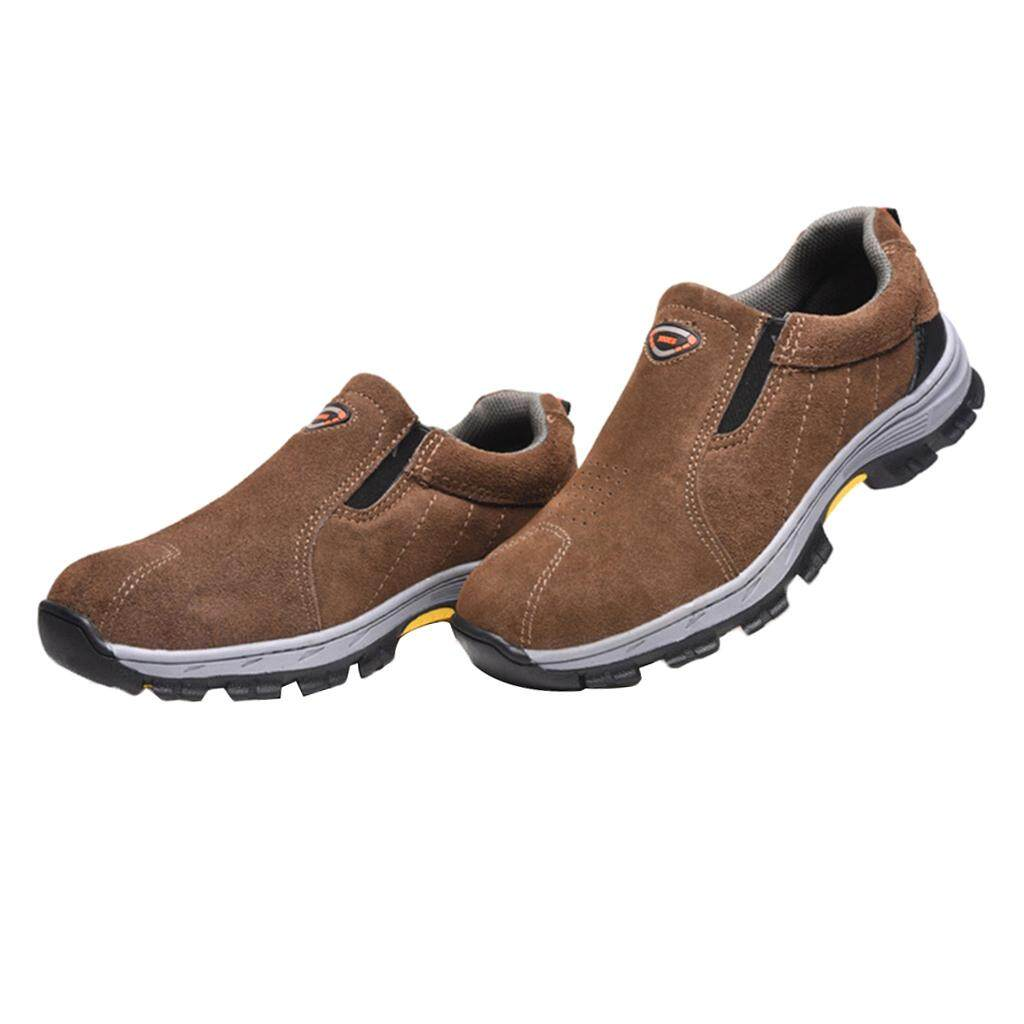 Miracle Shining Safety Work Boots Steel Toe Water Resistant Shock Absorbent Boots EU43 US9
